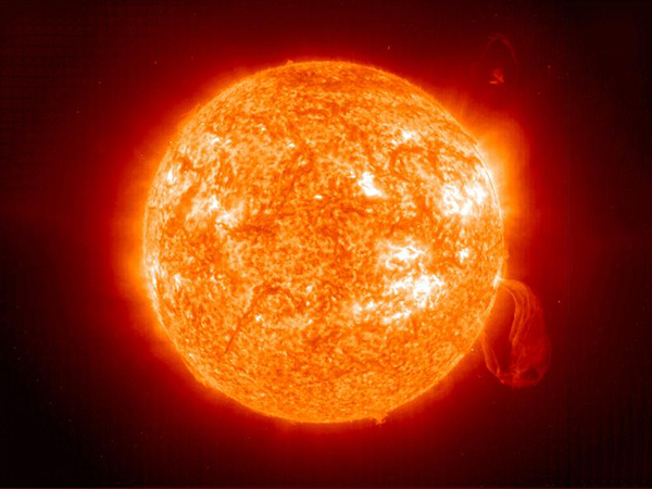 The structure of the sun and its radiation to the earth